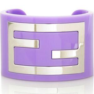 Fendi Zucca Cuff Bracelet in col Lavender